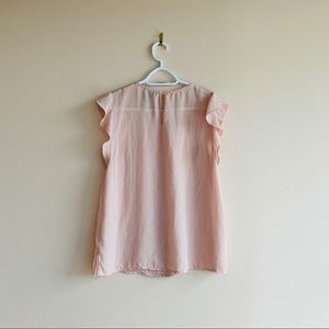Forever 21 Tops - Pink Crepe Short Sleeve Top